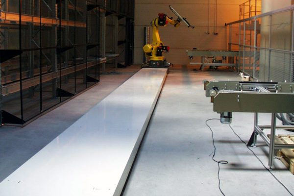 Linear tracks for robot systems